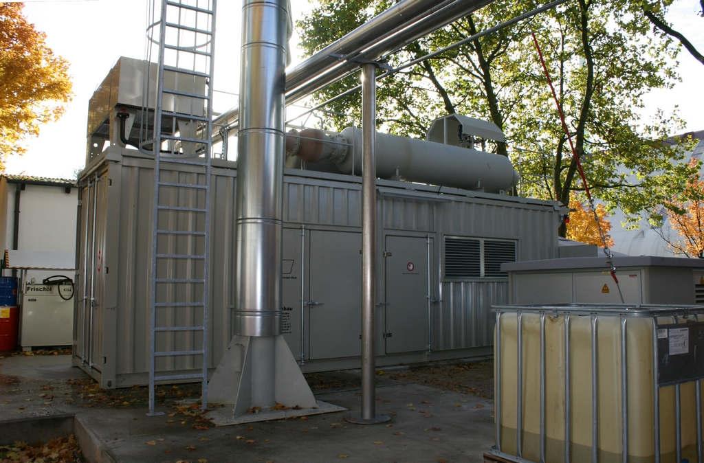 Anlagenbau Pörschke - 2 MW Gas BHKW im Container